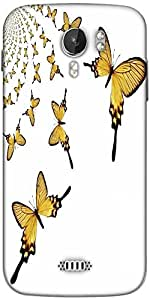 Snoogg kaleidoscopic butterflies Designer Protective Back Case Cover For Micromax A116