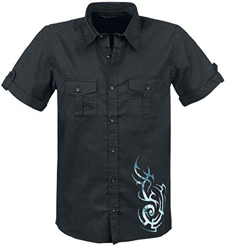 Spiral Tribal Camicia nero XL