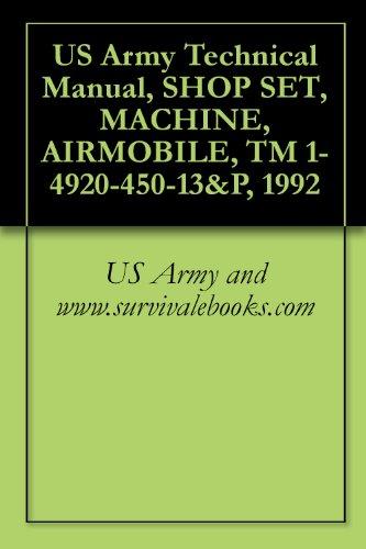 Us Army Technical Manual, Shop Set, Machine, Airmobile, Tm 1-4920-450-13&P, 1992