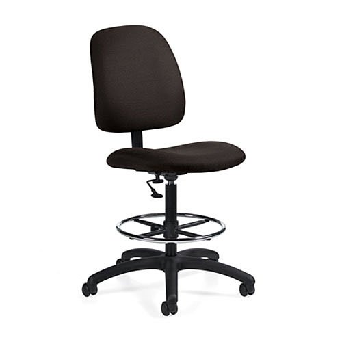 Cheap Goal Armless Drafting Pneumatic Task Chair Color Asphalt Lowest Price