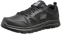 Skechers for Work Men\'s Flex Advantage SR Work Shoe, Black, 11 W US