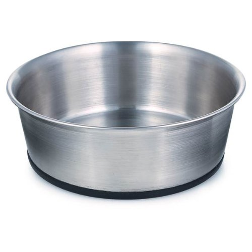 Proselect Stainless Steel Dog Bowl With Rubber Base, 6-1/2-Inch, 30-Ounce front-241946