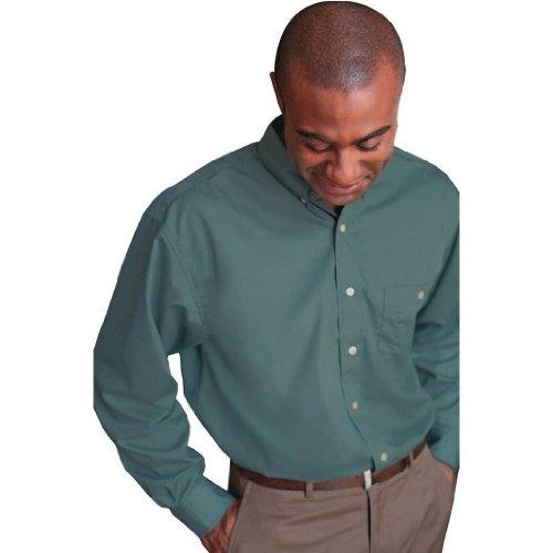 bill-blass-mens-wrinkle-free-long-sleeve-poplin-shirt-w-pocket-in-black-small
