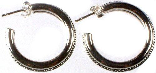 Sterling Hoop Earrings - Sterling Silver