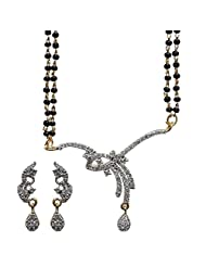 Sheetal Jewellery Silver & Golden Brass & Alloy Mangalsutra For Women - B00TIGZ3MW