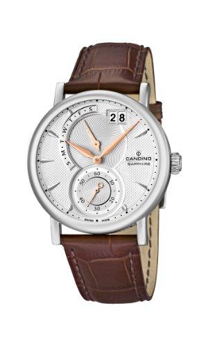 Candino C4485/1 - Reloj analógico de cuarzo para hombre con correa de piel, color marrón