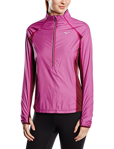 Mizuno Breath Thermo Women's Hyper Wind Top-Wild Aster, codardo, grande