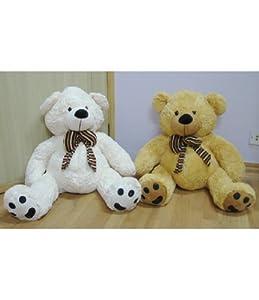Play-N-Pets Bear W/Bow 2Col XLarge 70cm