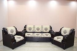 Balaji 5 Seater Maroon Sofa Cover