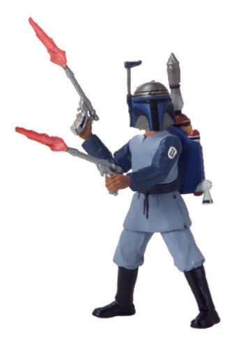 Star Wars Saga 2002 Attack of the Clones Boba Fett Kamino Escape