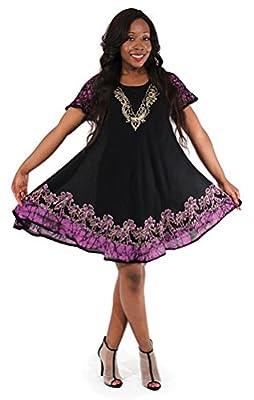 Short Batik Princess Cotton Blend Sundress - In Many Colors