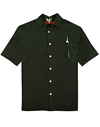 Bamboo cay shake the hook embroidered camp shirt at amazon for Bamboo button down shirts