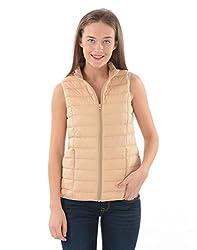 US Polo Women's Cotton Jacket (UWJK0096_Khaki_XX-L)