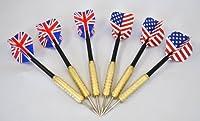 ダーツ矢 フライト イギリス国旗 3本 アメリカ国旗 3本 セット[sansanyaオリジナルセット]