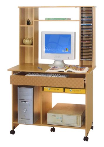 HOME & OFFICE BEECH WOOD COMPUTER DESK HO-HI218
