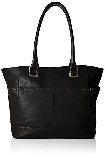 Image of Tignanello Overtime Pebble Leather Large Tote, Black