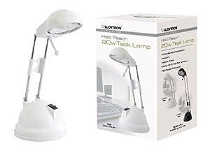 Lloytron L1101WH 20 Watt Halo Reach Task Lamp, White from LLOYTRON