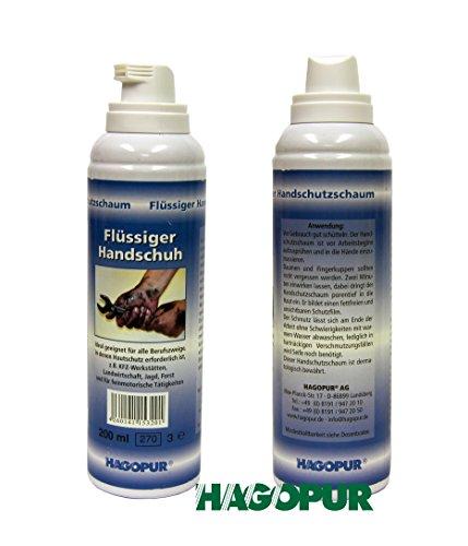 Liquido-Guanti Guanto liquido 200ml, vernice protezione ideale da olio sporco klebstoffe resina sangue sudore fuliggine cemento colore chimica-dermatologicamente testato per fino a 6ore