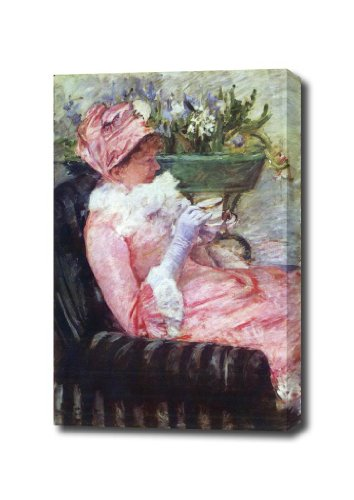 The Cup Of Tea By Cassatt Canvas Art Print, 14 X 17 Ready To Hang