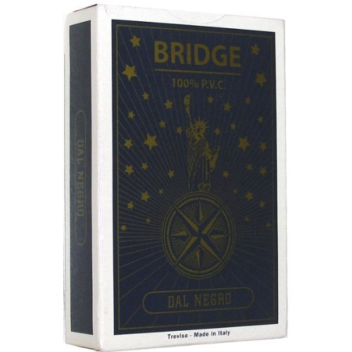 Dal Negro Freedom X Bridge Size Dual Index Playing Cards (Grey) - 1