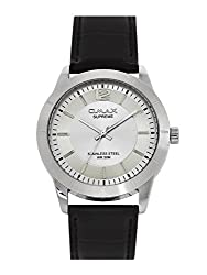 OMAX Analogue White Dial Mens Watch - SS303