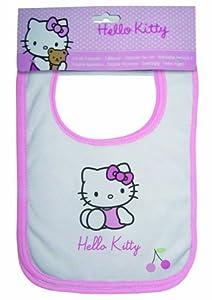 Hello Kitty 040822 Babero Coccinelle, Pack de 3 Unidades, Rizo, 32 x 21 cm