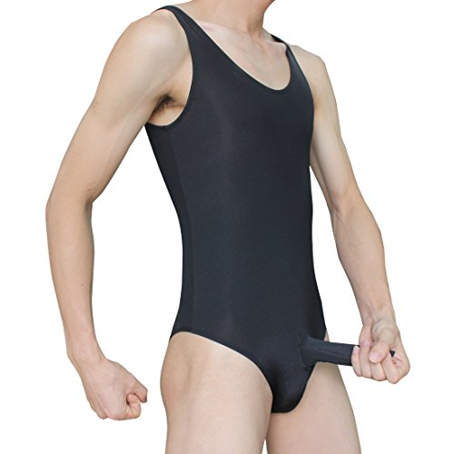 iEFiEL Sexy Herren Körperformung Stringbody Overall Männer Body Unterwäsche Weste Unterhemd Dessous mit geschloßener Penishülle