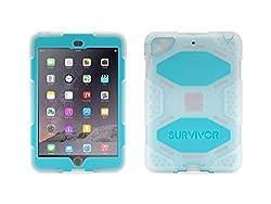 Griffin Clear/Blue Survivor All-Terrain Case + Stand for iPad mini, mini 2, and mini 3