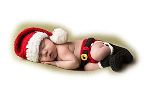 Autek Boy Baby Newborn Christmas Knit Costume Crochet Outfits Photography Photo Props