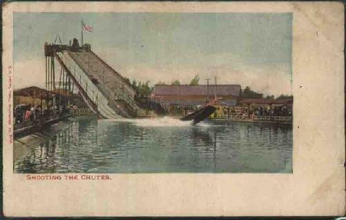 postal-antigua-old-postcard-shooting-the-chutes-milwaukee-usa