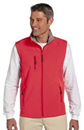 DJ MENS SOFTSHELL VEST (RED) (L)