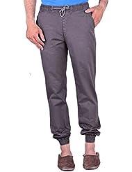 CORTOS Brown 100% Cotton Regular Fit Casual Solid Jogger