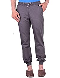CORTOS Brown 100% Cotton Regular Fit Casual Solid Jogger