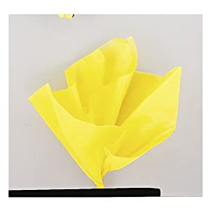 Yellow Tissue Sheets, Pack of 10