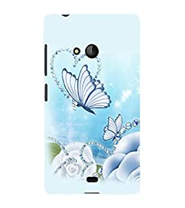printtech Butterfly Pearls Back Case Cover for Nokia Lumia 950::Microsoft Lumia 950