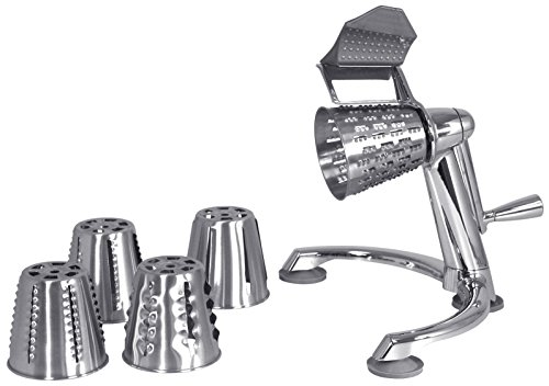 The Foodcutter - Stainless Steel Food Cutter / Vegetable Cutter. 5 cutting cones: Shredder, Stringer, French Fry Cutter, Slicer, and Waffler (Shredder Slicer compare prices)