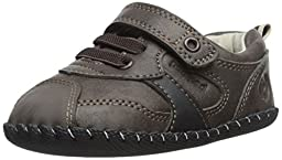 pediped Originals Franklin Casual Sneaker (Infant), Chocolate Brown, Small (6-12 Months)