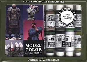 WWII Allied Model Color Paint Set 17ml Bottle Acrylic (16 Colors)