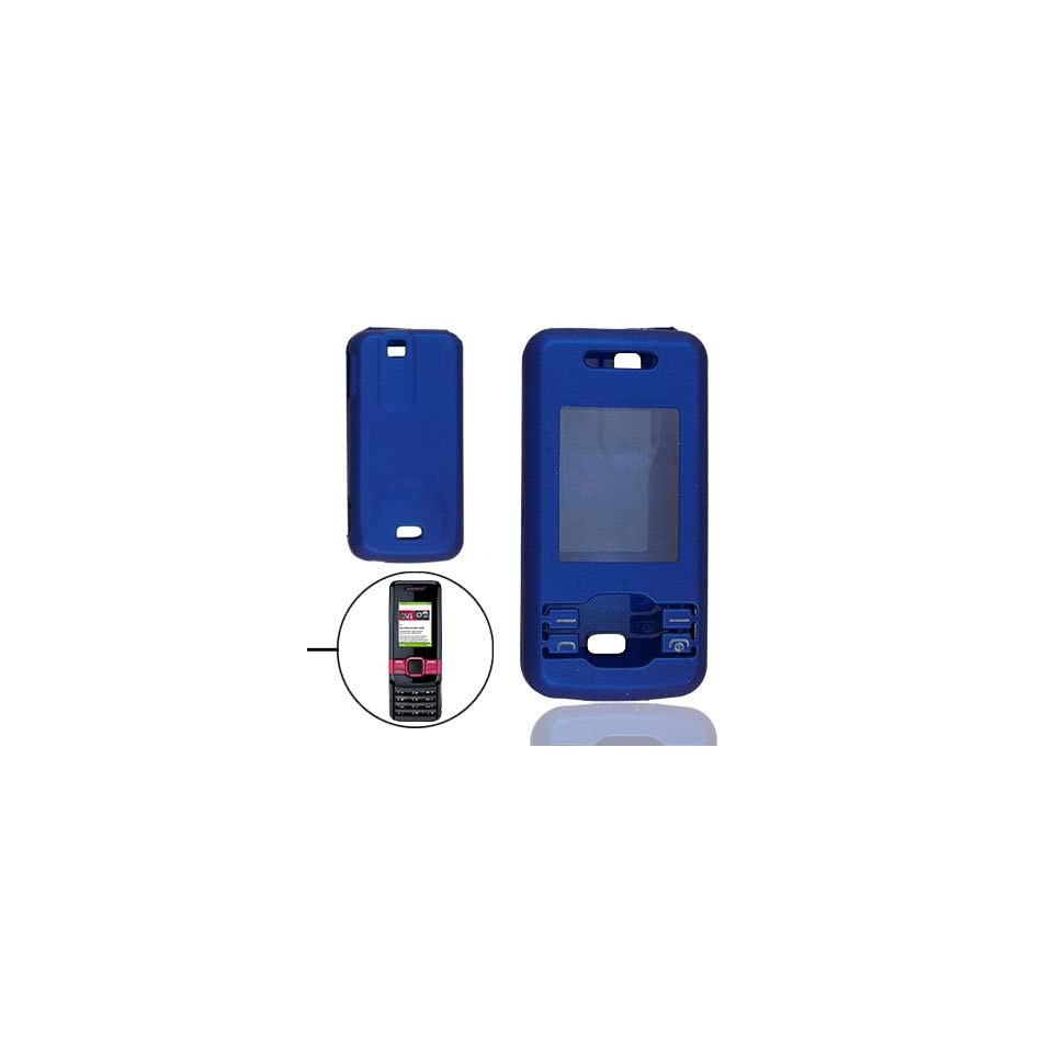 Gino Blue Rubberized Hard Plastic Case Guard for Nokia 7100