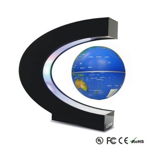 Schwebender Globus Weltkugel Erdball Erdkugel Schwebeglobus für Deko Schüler Schreibtisch geographisch geografisch mit Beleuchtung und Design Basisstation online kaufen