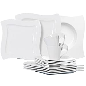 villeroy boch new wave 10 2525 90 dinner set 4 dinner plates soup bowls saucers cups and. Black Bedroom Furniture Sets. Home Design Ideas