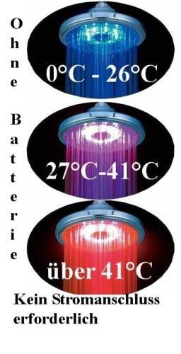 LED Regendusche in rund mit Farbwechsel kein Strom nötig 09WB