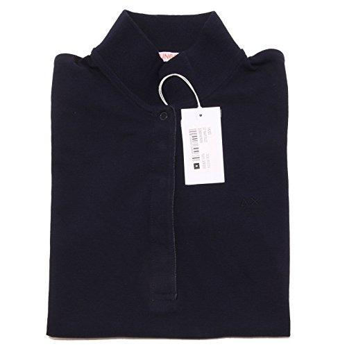 7657O polo manica corta SUN68 blu maglia donna t-shirt woman [S]