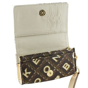 New Dooney & Bourke Universal Crossworld Case Coffee Uc15cf Nylon Material With Leather Trim