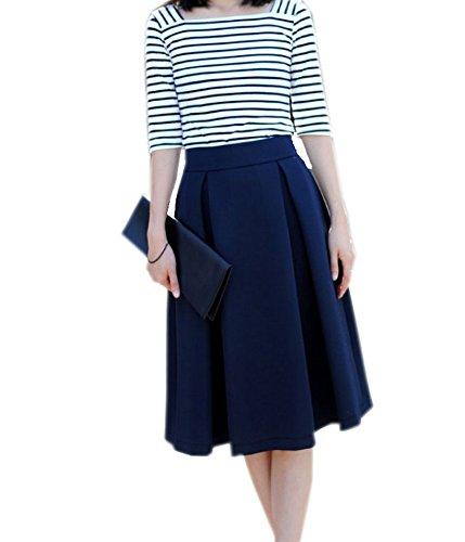 pleated knee length skirt redskirtz