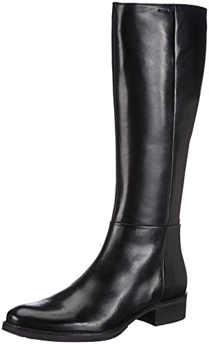 Geox D MENDI, Stivali a gamba alta Donna, Nero (Schwarz (BLACKC9999)), 41