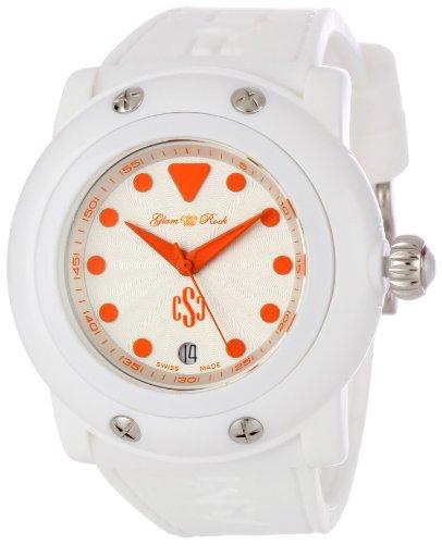 Glam Rock GR61009 - Orologio da polso da donna colore bianco