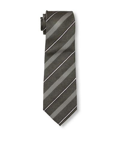 Armani Collezioni Men's Dobby Stripe Tie, Espresso