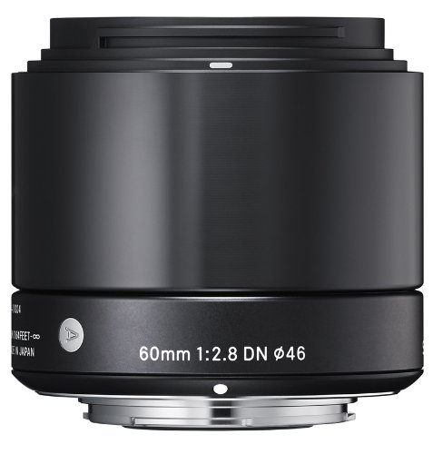 Sigma 60mm F2.8 DN Lens, Black (Sony NEX)