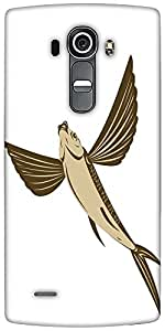 Snoogg Flying Fish Retro Style Designer Protective Back Case Cover For LG G4
